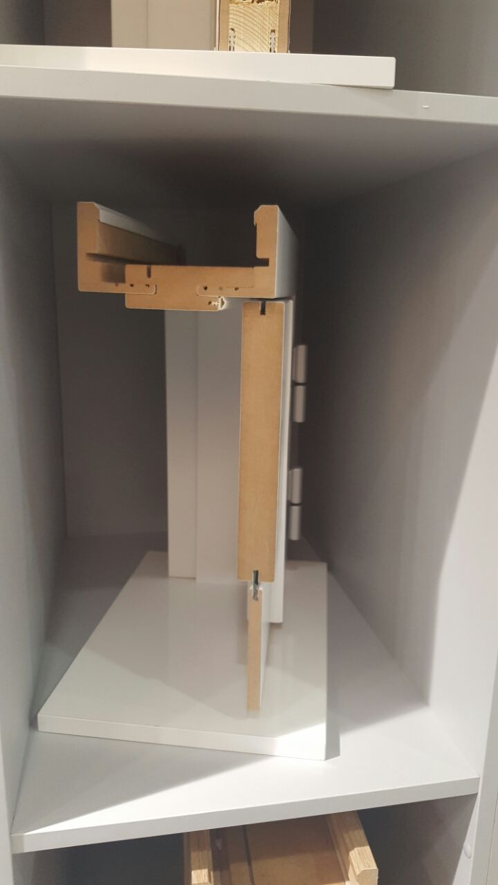 Межкомнатная дверь в разрезе
